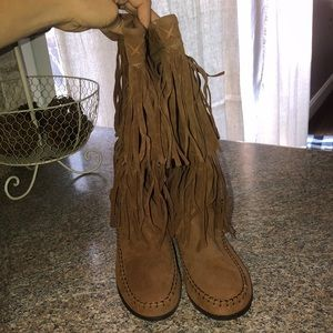 Women's boots, Fringe, 7 1/2, brown